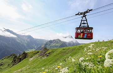 Bergbahn im Kleinwalsertal. Bergbahnticket inklusive.