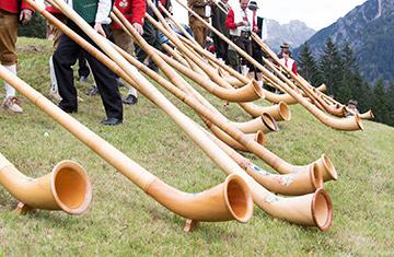 Kultur im Kleinwalsertal: Alphorn-Festival