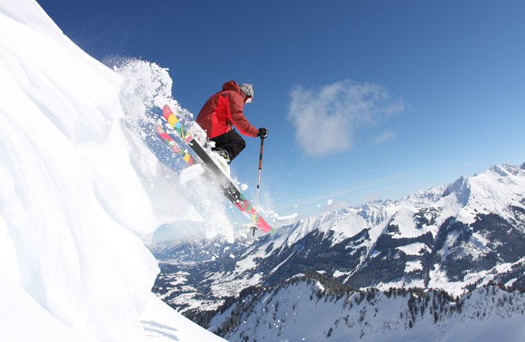 Pulverschnee im Skigebiet Kleinwalsertal Oberstdorf