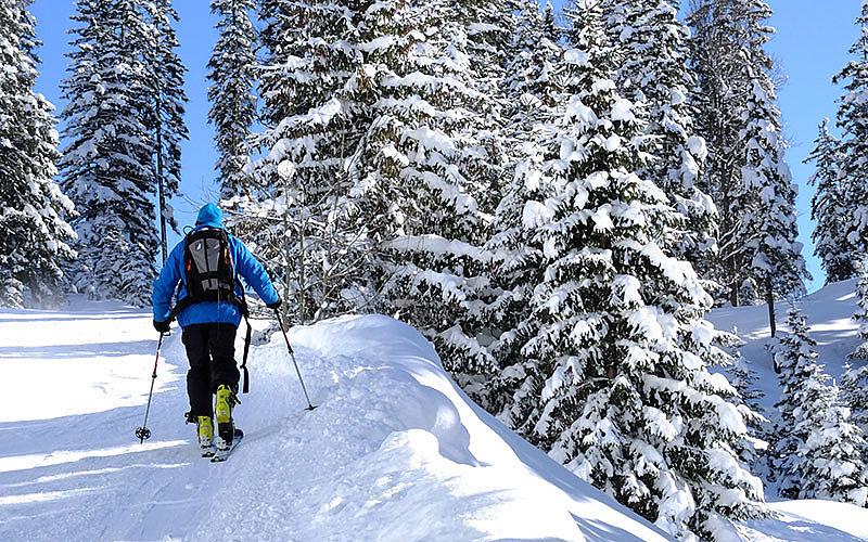 Skifahren im Winter Kleinwalsertal